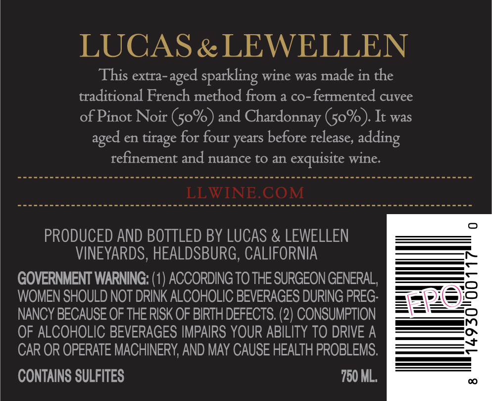 Lucas & Lewellen 2012 Extra Brut Sparkling Wine - Extended Tirage