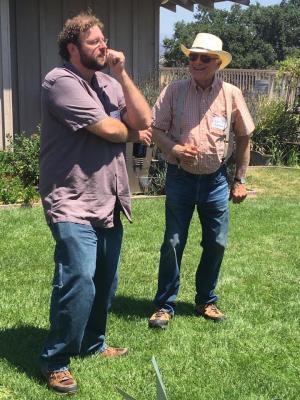 Ian Fainer and Louis Lucas at a Vineyard Tour
