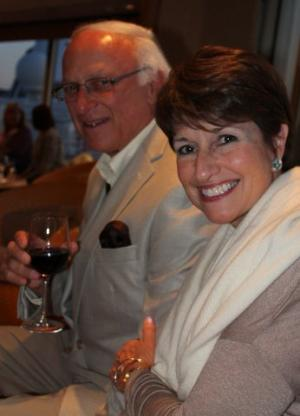 Louis Lucas and Jill Lucas on the 2013 Wine Cruise to Canada
