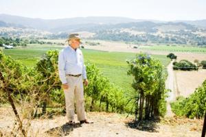 Royce Lewellen in the vineyard