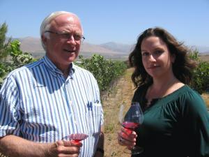 Grape grower Louis Lucas and Winemaker Megan McGrath Gates