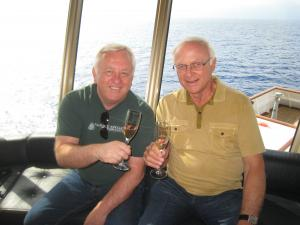 Andy Moore and Louis Lucas on the 2014 Lucas & Lewellen Wine Cruise