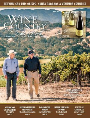 On the cover of Wine Country this Week - Lucas & Lewellen Vineyards
