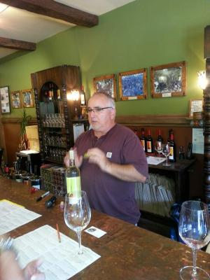An image of tasting room Employee Mark hard at work