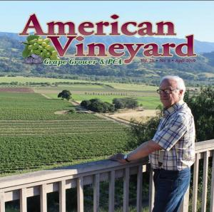 Louis on the cover of American Vineyard Magazine