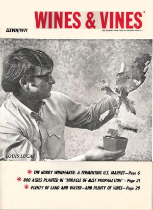 A 1970's photo of Louis Lucas on Wines & Vines Magazine