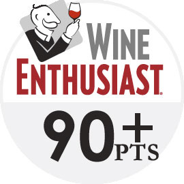 Wine Enthusiast 90 point logo